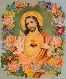 The Heart of Jesus Christ - typical catholic image
