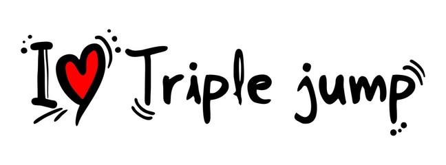 Triple jump love