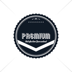 premium label vintage quality badge theme