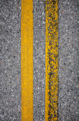 Old and New Yellow Road Lines
