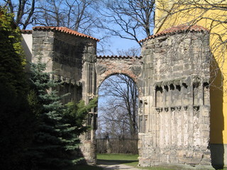 The ancient monastery torso in Panensky Tynec, Czech republic