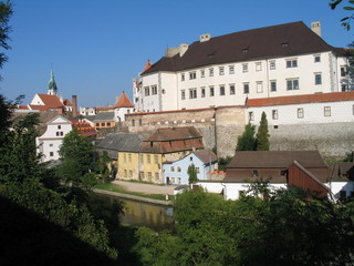 The historic city panorama in South Bohemia - Jindrichuv Hradec