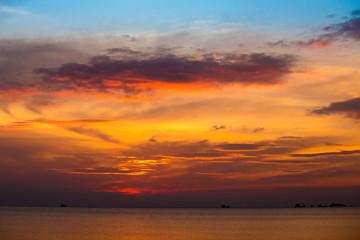 Sunset at the sea. Island Koh Phangan, Thailand