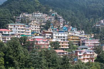 Houses at Himalaya mountains in Dharamshala, India