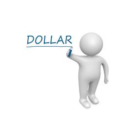Dollar drawn by a white man