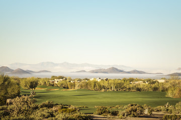 Scottsdale golf course ow lying fog