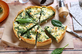 Pie with spinach and feta cheese