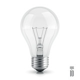light bulb realistic vector  isolated on white background