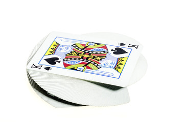 Deck of cards with a king on top
