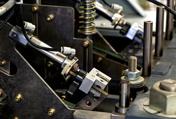 Close up Mechanical Printing Machine at the Office