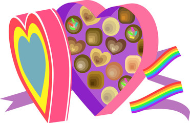 Boxo' chocolates rainbow