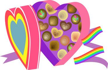 Boxo' chocolates rainbow
