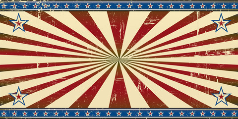 Retro patriotic banner