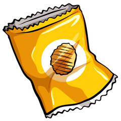 A pouch of chips