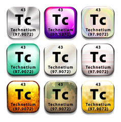 An icon showing the chemical Technetium
