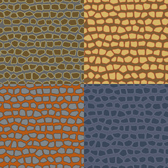 Abstract seamless backgrounds of the stone wall