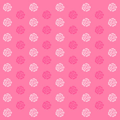 Elegance wallpaper with of pink roses on floral background
