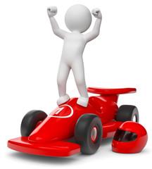 3d Männchen als Rennfahrer