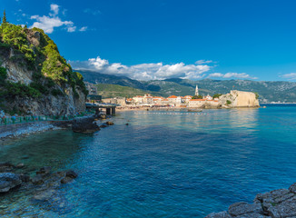 View of the old town of Budva