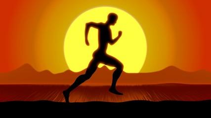 Runner in Sunset