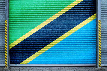 Tansania verzinktes Stahltor (Tanzania roll-up door)