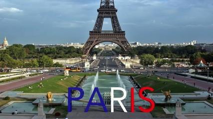Testo Parigi che si forma davanti alla torre Eiffel