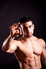 young bodybuilder taking steroids