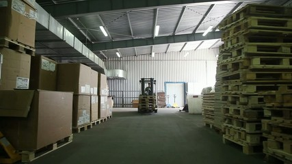 Forklifts in Factory
