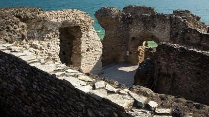 Grotte di Catullo sirmione ripresa video