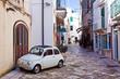 Leinwandbild Motiv alleyway of Otranto, Italy