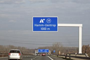 BAB 2 - Ausfahrt 19 Hamm-Uentrop