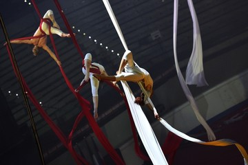 Spettacolo di danza aerea