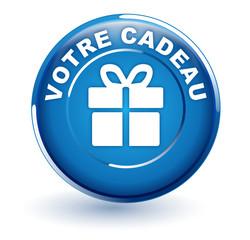 votre cadeau sur bouton bleu