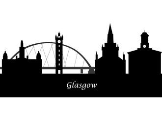 silhouette of glasgow