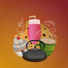 Coffee restaurant poster vector