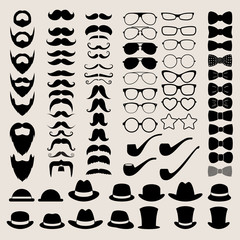 Hipster style infographics elements and icons set for retro desi