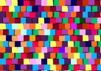 3d square colorful mosaic