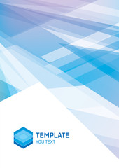 Example booklet cover, abstract composition, transparent surface