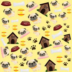 pug puppy background