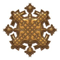 Decorative menu and invitation border elements in golden