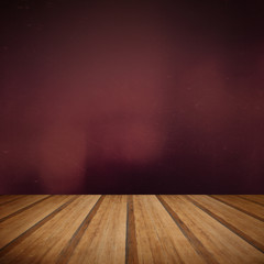 Retro grunge texture background with wooden floor platform foreg