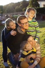 Retrato de familia numerosa