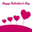 happy valentine hearts card