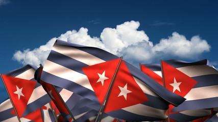 Waving Cuban Flags