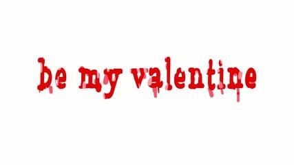 Valentine's day animation background.