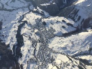 Gstaad vue du ciel