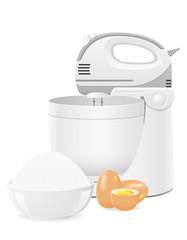 kitchen mixer vector illustration
