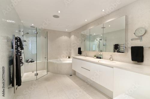 modern bedroom interior - 77746809