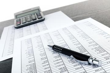 Kugelschreiber Taschenrechner Tabellen