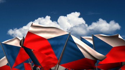 Waving Czech Flags